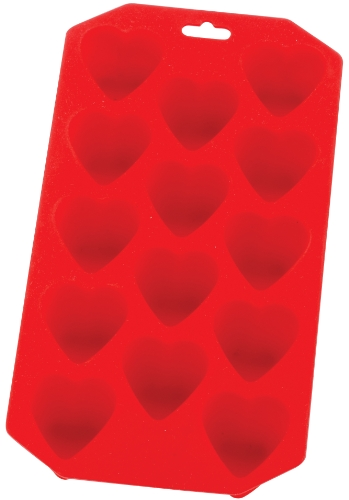 HIC Ice Tray and Mold, Heart, 8 x 4.5-Inches Heart Shaped Brownie