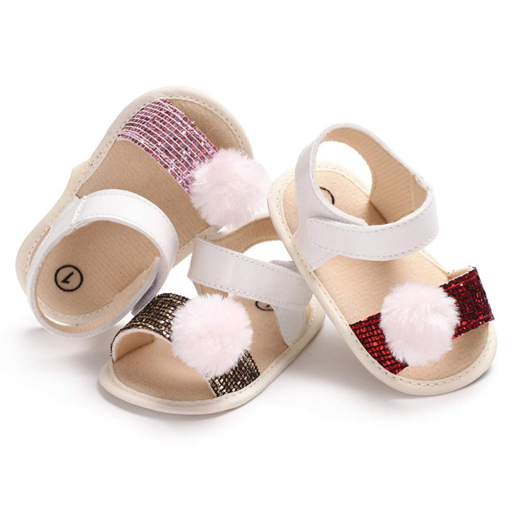 Guoainn Comfortable Baby Shoes Clearance Infant Baby Girls Paillette Summer Soft Sole Anti-Slip Prewalker Toddler Shoes