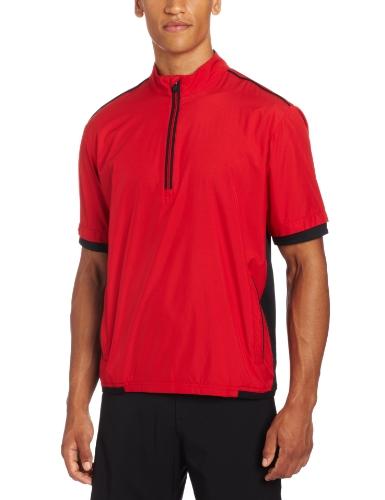 - adidas Golf Men's Climaproof Stretch Wind Short Sleeve Jacket, University Red/Black, X-Large