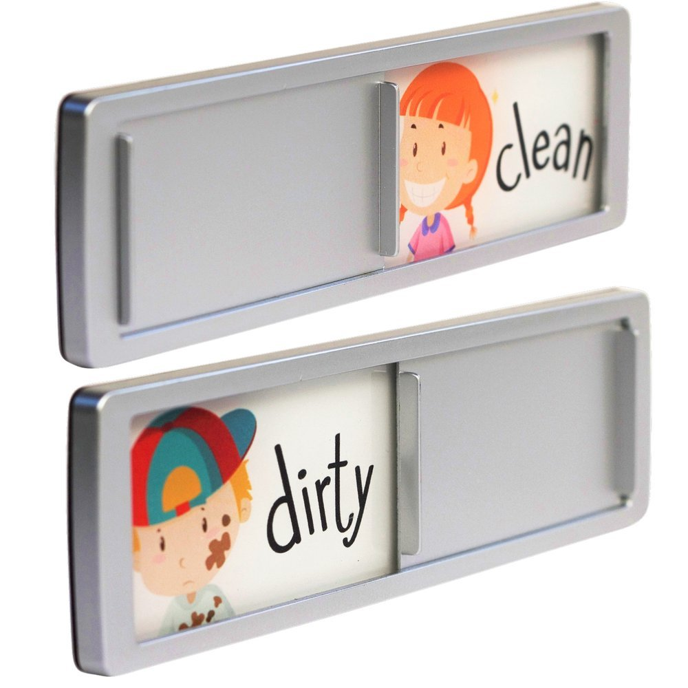 Dishwasher Magnet Clean Dirty Dishes Sign Slide Indicator Dishwashing Reminder for Kitchen Includes 1 Year Warranty by Joy Magnets by Joy Magnets