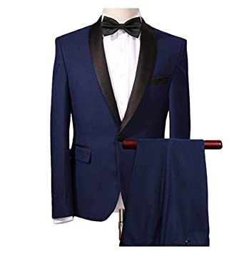 Suits For Wedding.Botong Navy Blue Wedding Suits For Men 2 Pieces Men Suits Groom Tuxedos