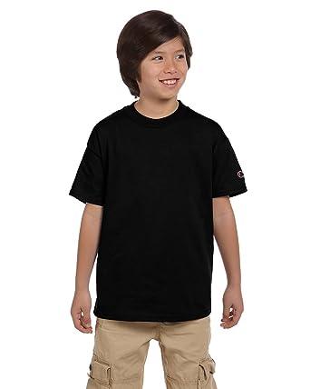 67c4eb18 Amazon.com: Champion Youth 6.1 oz. Short-Sleeve T-Shirt: Clothing