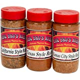 BBQ BROS RUBS {Western Style} - Ultimate Barbecue Spices Seasoning Set - Use for Grilling, Cooking, Smoking - Meat Rub, Dry Marinade, Rib Rub - Backed with 100% Customer Guarantee