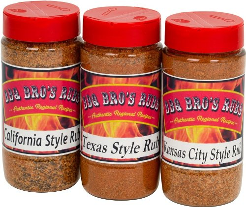 BBQ BROS RUBS {Western Style} - Ultimate Barbecue Spices Seasoning Set - Use for Grilling, Cooking, Smoking - Meat Rub, Dry Marinade, Rib Rub - Backed with 100% Customer Guarantee (Best Dry Rub For Baby Back Ribs)