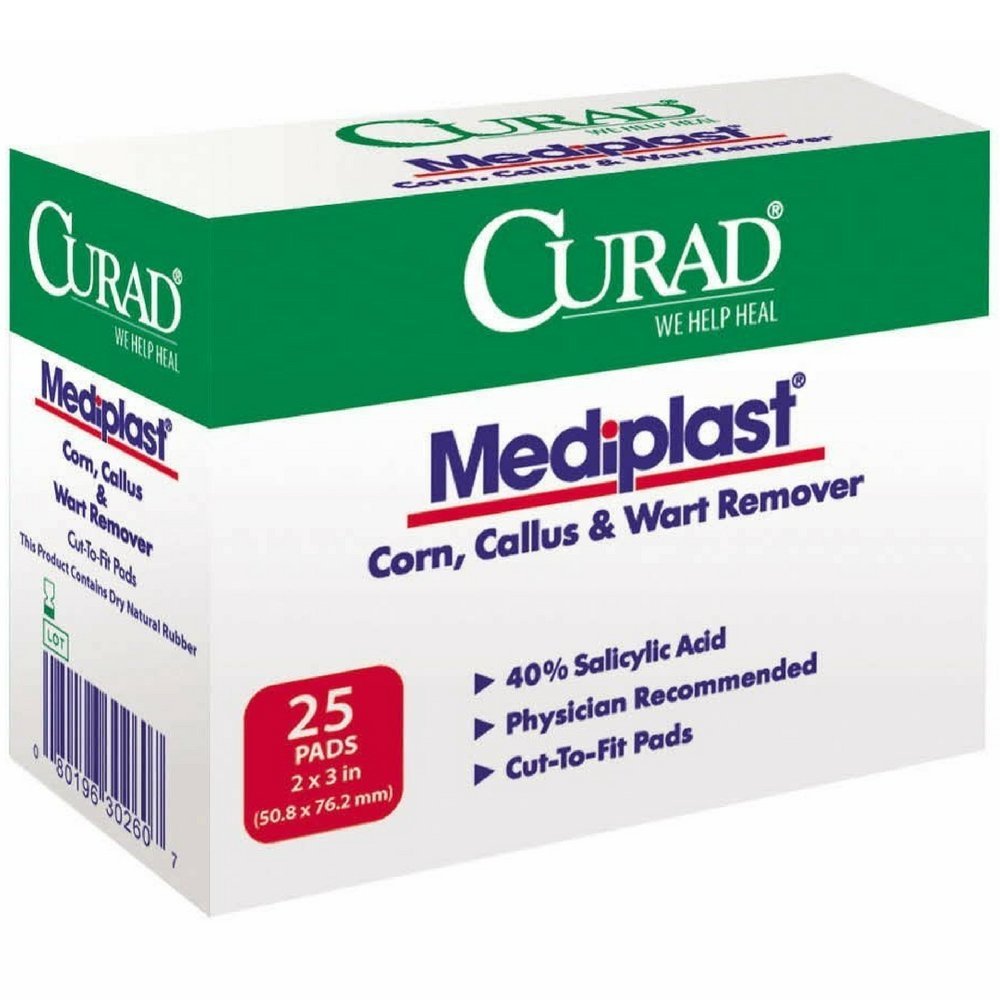 Curad Mediplast Pads 2'' x 3'' 25 ea ( Pack of 2) by Curad