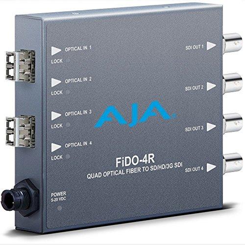 AJA FiDO-4R Optical Fiber to Quad SD/HD/3G SDI Mini Converter (FIDO-4R) by Aja