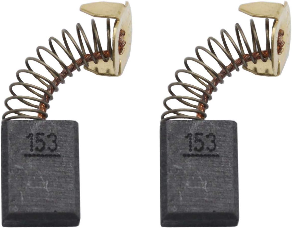 Brochas de carbono compatibles con Makita Cb154, juego de cepillos de carbono de motor sustituye a Makita 194986 herramientas eléctricas (2 unidades)