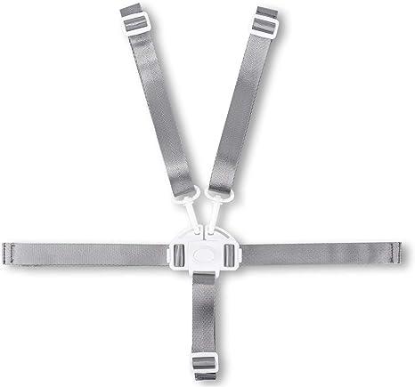 Arnés de 5 puntos universal para cinturón de seguridad ajustable para cochecito de bebé, silla alta y protección segura para niños