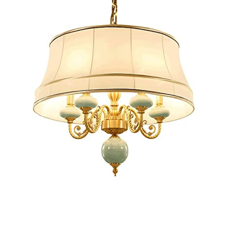 PIAOLING Lampadario in ottone antico, lampadario classico in ...