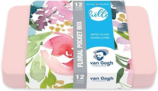 Van Gogh - Caja de acuarelas de bolsillo (12 colores, 10 colores básicos y 2 metalizados): Amazon.es: Juguetes y juegos