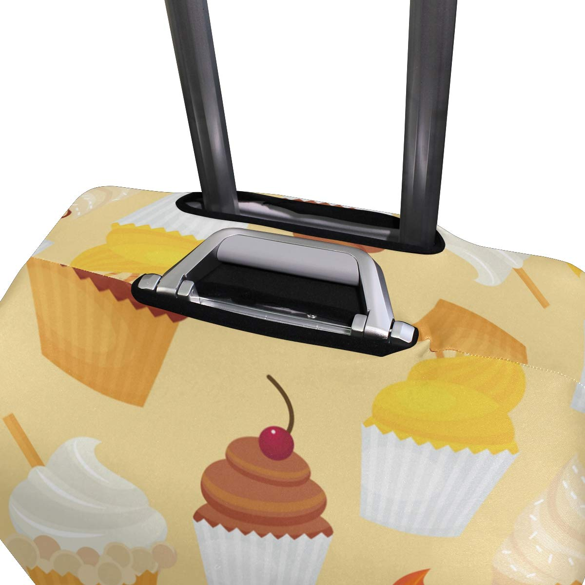 Baggage Covers Delicious Cupcakes Cherry Yellow Washable Protective Case