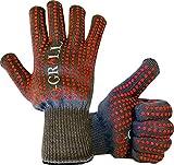 Q-Grill Premium Grilling Gloves, 932°F Aramid Extreme Heat Resistant with Anti-Slip Matrix Silicone