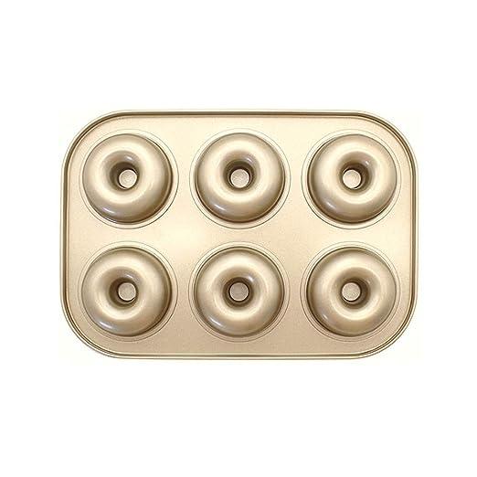 KGHONY Antiadherente Gold 6 Even 12 Donut Bandeja Para Hornear ...
