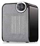 HOME_CHOICE Small Ceramic Space Heater Quiet Electric Portable Heater Fan for Home Office Kitchen with Adjustable Thermostat Overheat Protection and Carrying Handle,ETL Listed for Safe Use,750W/1500W