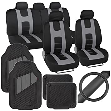 Amazoncom PolyCloth Sport Seat Covers Rubber Floor Mats