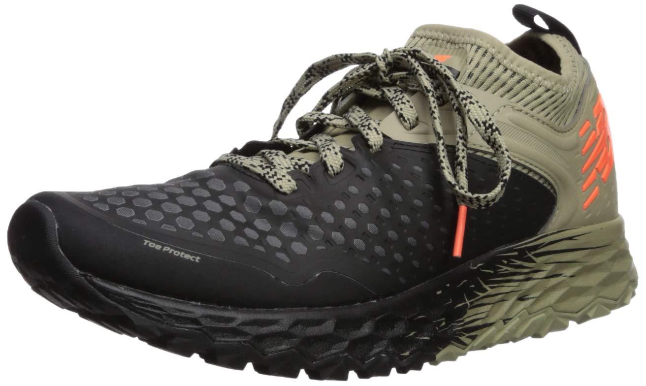 New Balance Men's Hierro V4 Fresh Foam Trail Running Shoe, Black/Trench/Alpha Orange, 10 D US by New Balance
