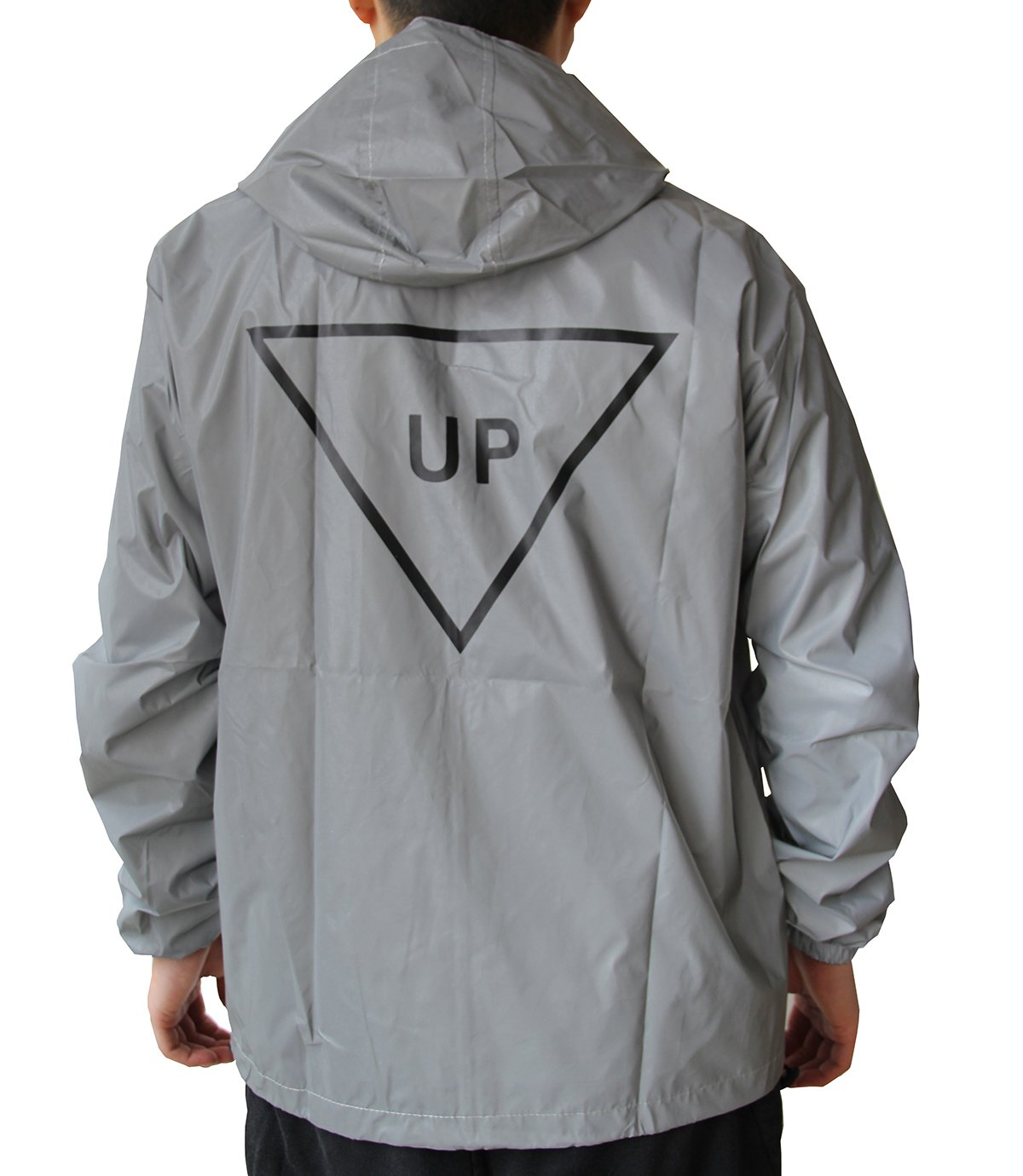 fangfei 3M Reflective Coat Hooded Windbreaker Fashion Runing Jacket(UP)