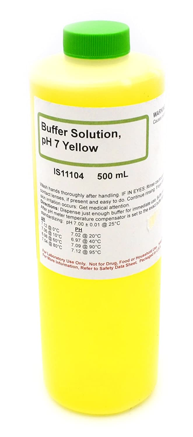 7.00 pH Standard Buffer Solution, Yellow, 500mL - The Curated Chemical Collection