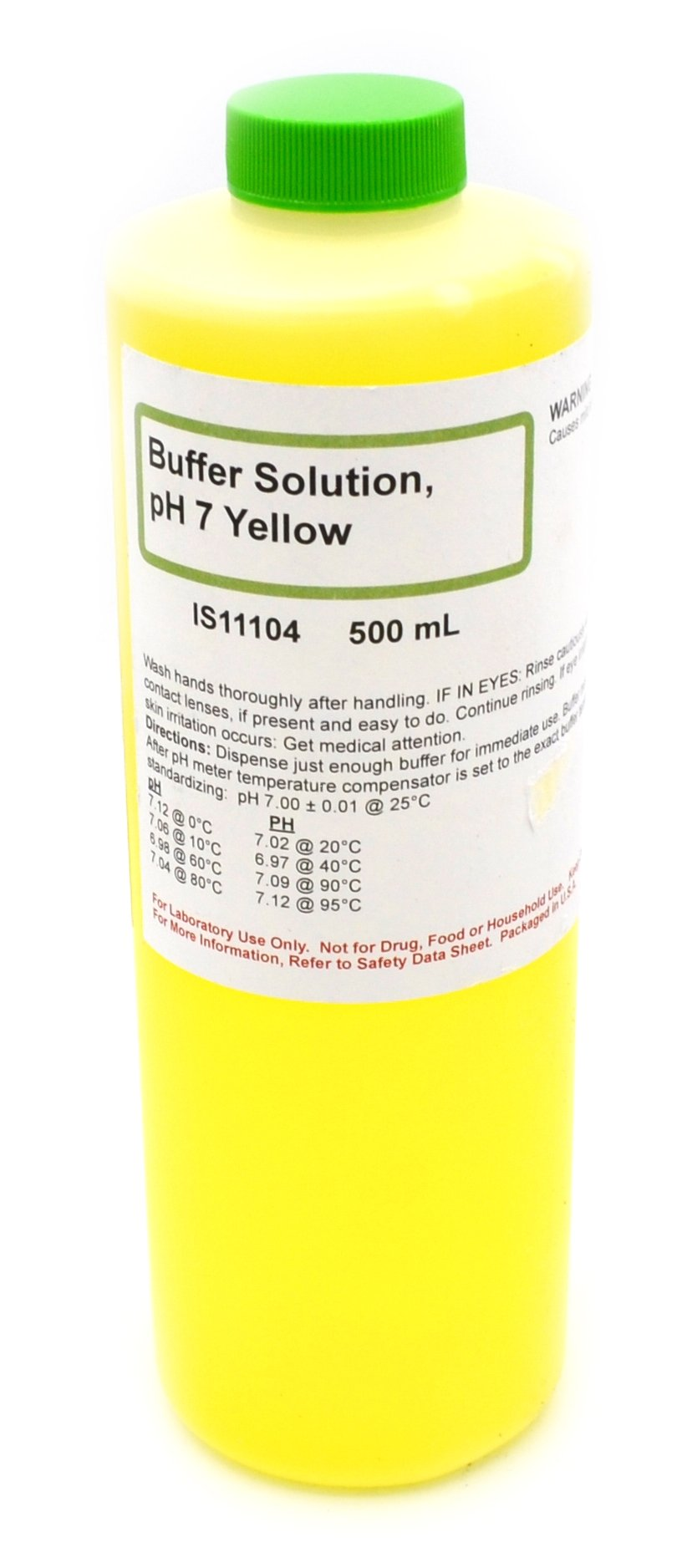 7.00 pH Standard Buffer Solution, Yellow, 500mL - The Curated Chemical Collection by Innovating Science
