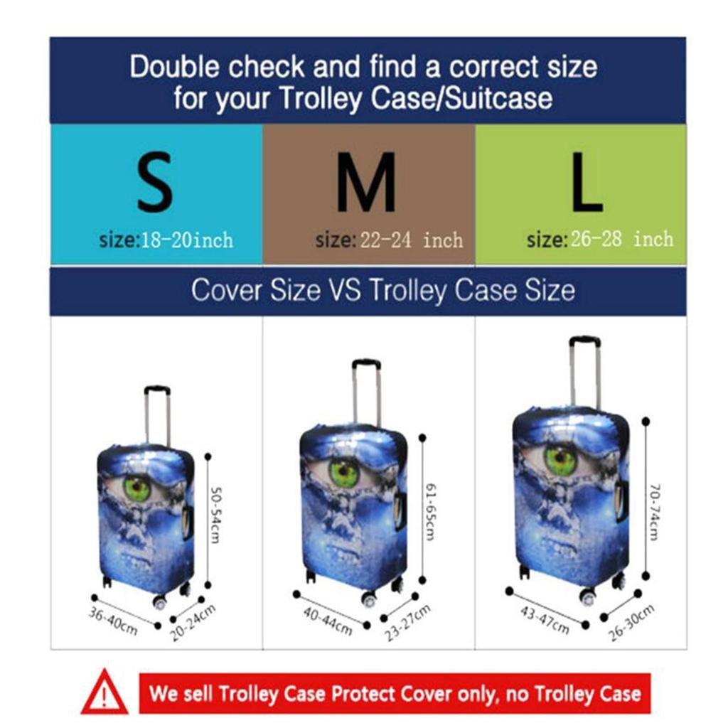 MIAO Retro Valigia da Viaggio Parapolvere Parapolvere Parapolvere Ispessimento Trolley Case Custodia Prossoettiva, S, e | Up-to-date Styling  | Prezzo Ragionevole  06d07f