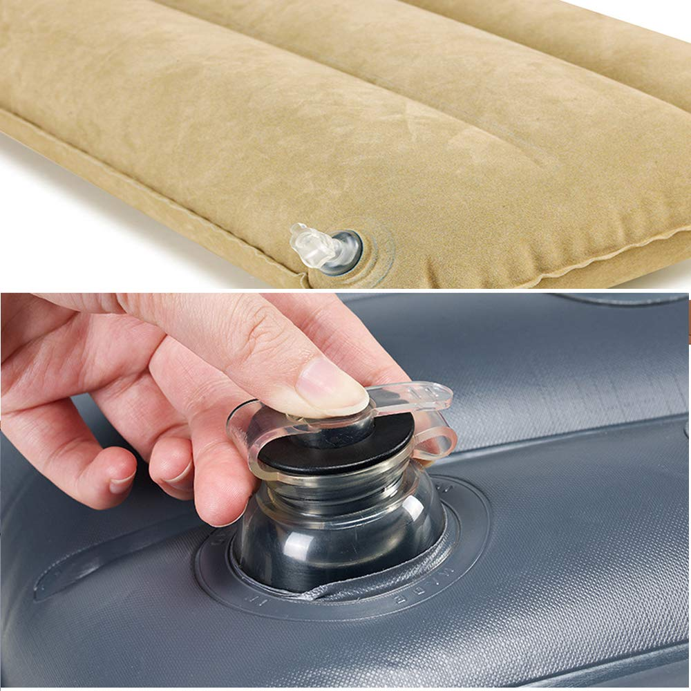 Beige+Pump LUOOV Multifunctional Car SUV Air Mattress Camping Bed,Outdoor SUV Dedicated Mobile Cushion Extended Travel Mattress Air Bed Inflatable for SUV Back Seat,Fit 95/% SUV with Pump Fit 95/% SUV with Pump