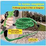 ProBache - Tuyau d'arrosage extensible 7,5 m canada green + pistolet 7 fonctions