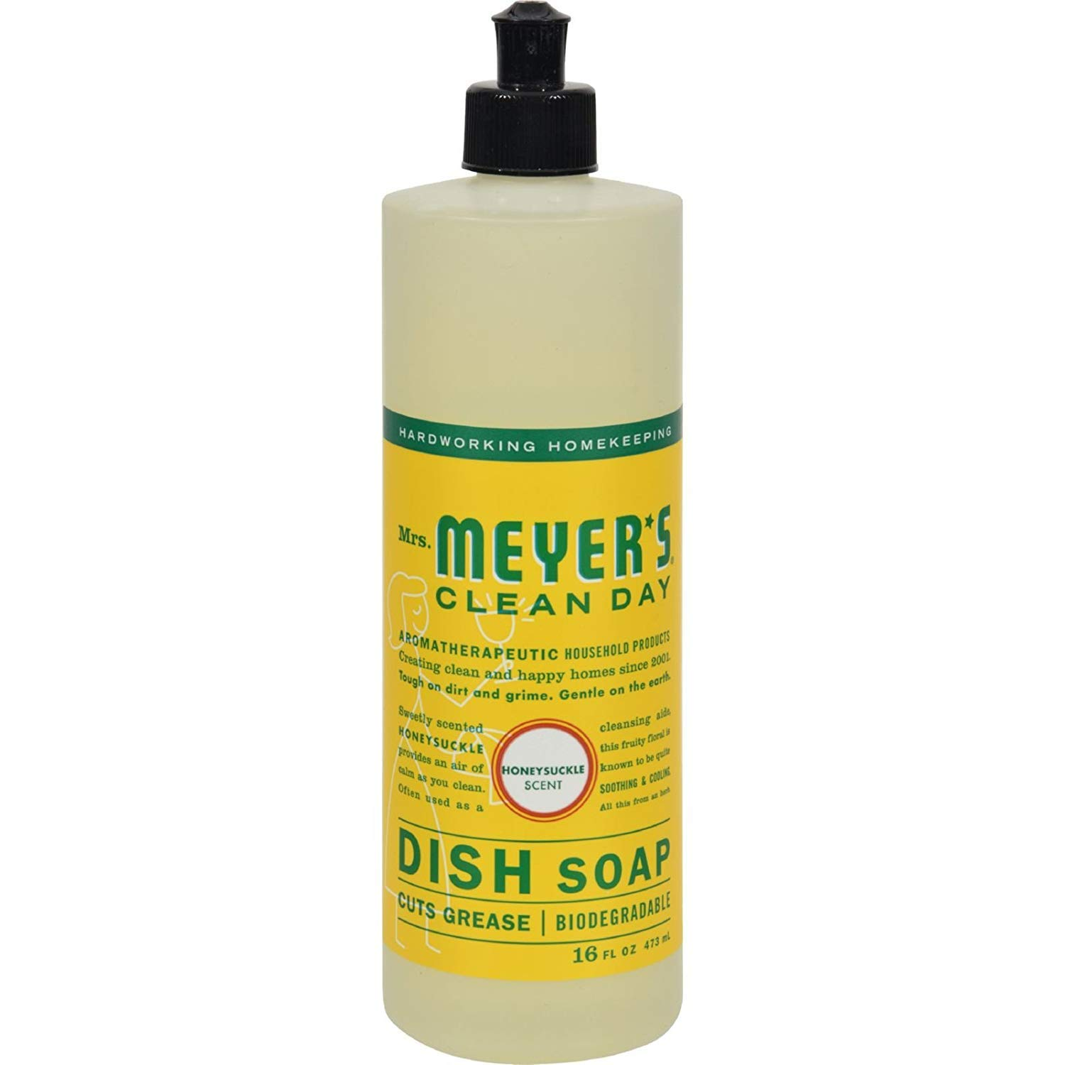 Mrs. Meyer's Liquid Dish Soap - Honeysuckle - Case Of 6 - 16 Oz Mrs. Meyer' s S0523068N