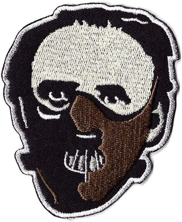 Parche de máscara del Dr. Hannibal Lecter bordado, insignia de silencio de los corderos, dragón rojo de la película de terror del disfraz de recuerdo: Amazon.es: Hogar