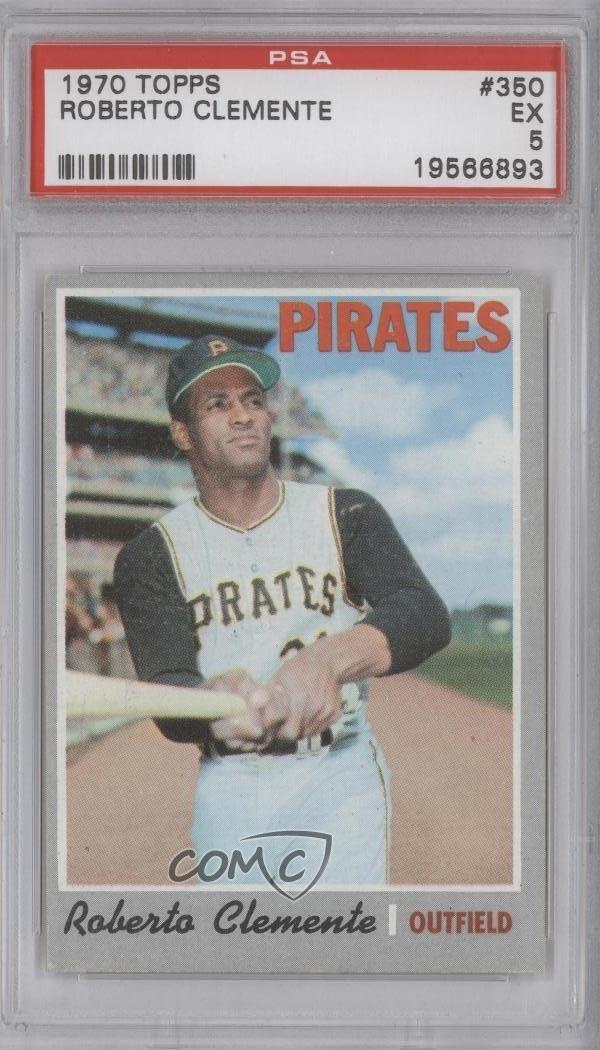 Base 1970 Topps - Roberto Clemente PSA GRADED 5 Baseball Card #350
