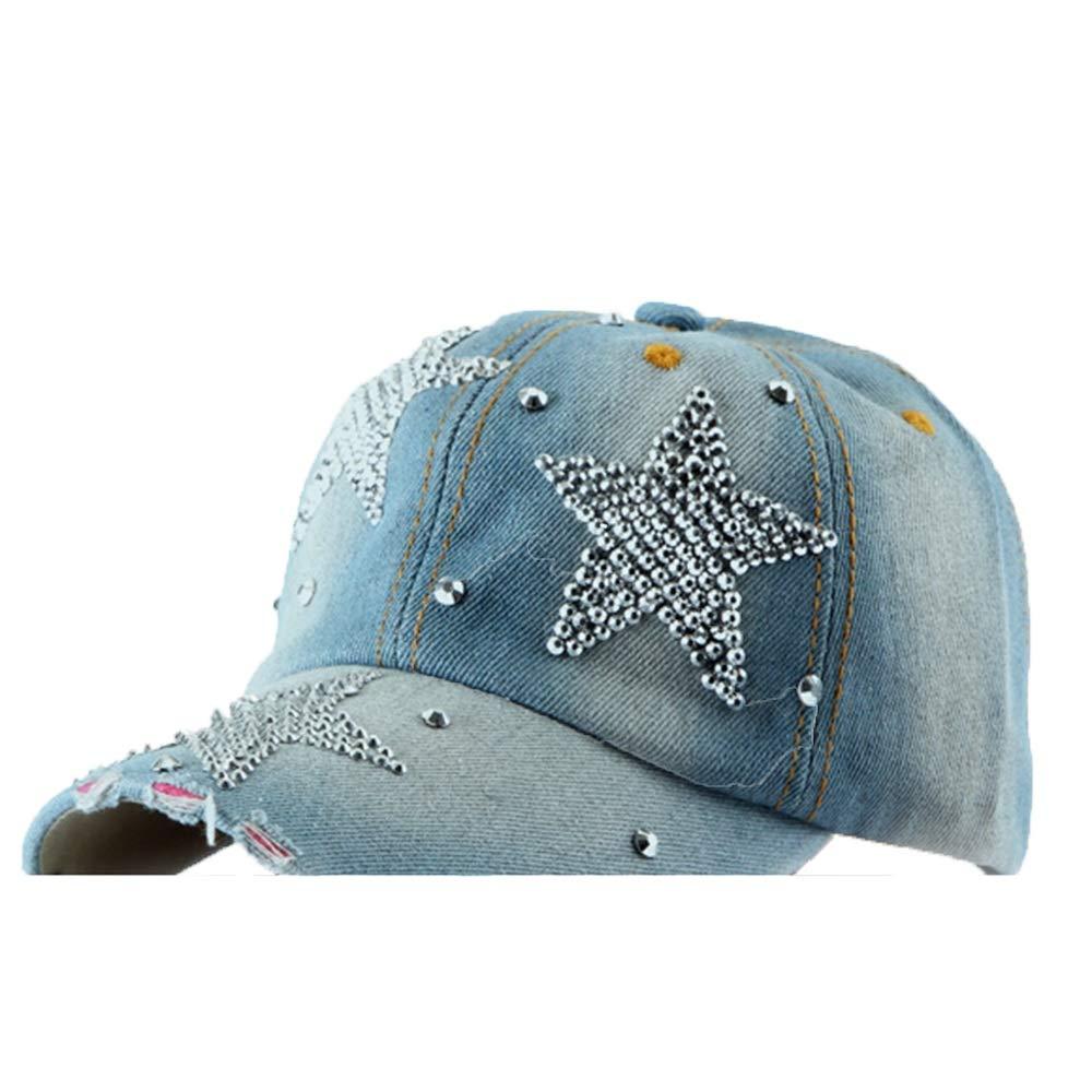 Four Seasons Cowboy Baseball Cap with Diamond Sun Tongue Baseball Cap (Design   Pentagram)