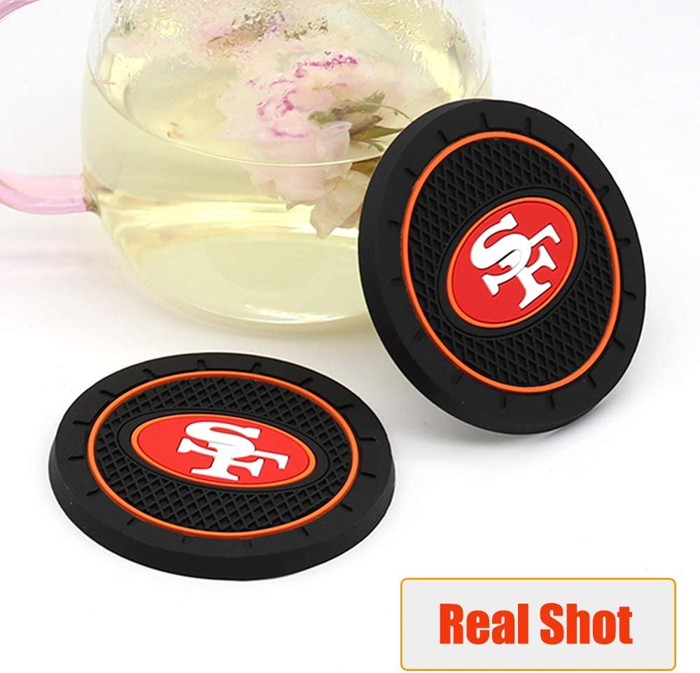 Fast /& Furious 2PCS Car Cup Holder Coaster for Oakland Raiders 2.8 Inch Car Interior Accessories Durable Non Slip Silicone Logo Cup Mat for All Vehicles for Raiders