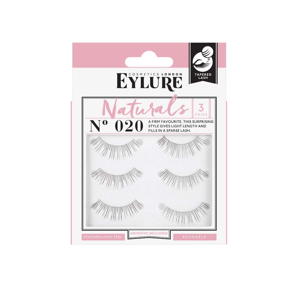 e382c2b5afd Amazon.com : (Multi Pack- 3 Pairs) Eylure Naturalites #020 False Eyelashes,  Black : Fake Eyelashes And Adhesives : Beauty