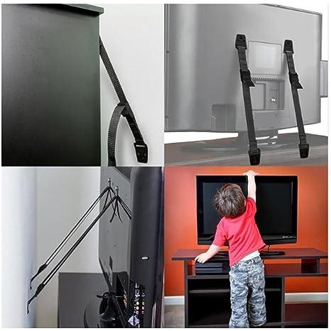 Genmine - 2 paquetes de anclajes de pared para muebles y televisión, anclajes de seguridad