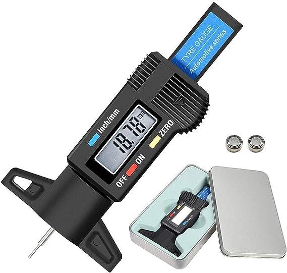 Audew Profiltiefenmesser Reifenprofilmesser Profilmesser Digital Tiefenmesser 0 25 4mm Lcd Display Auto