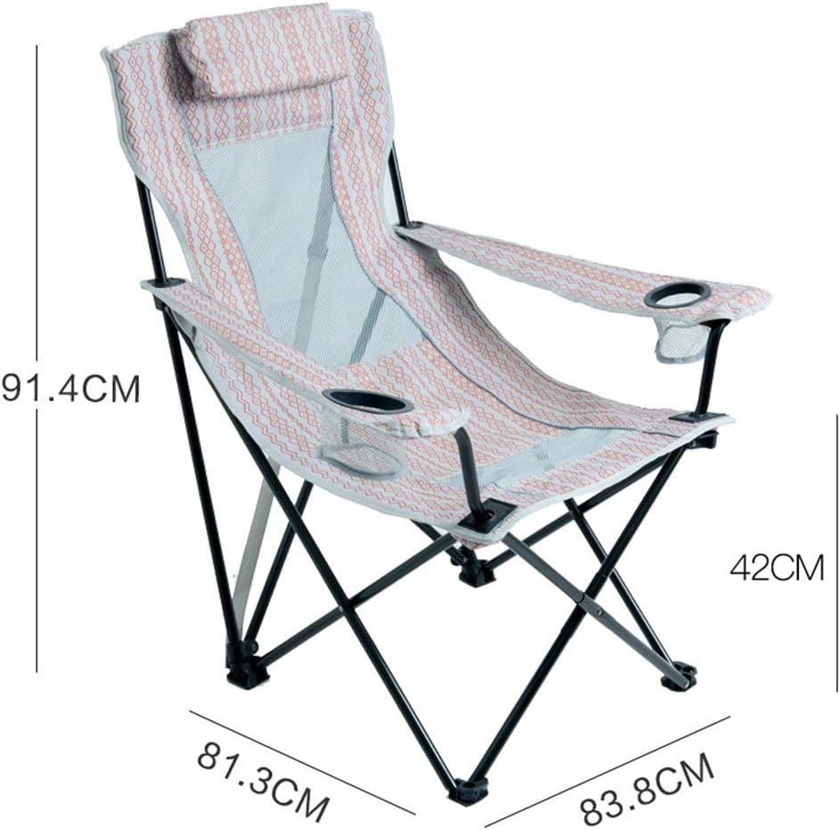 WFH Silla plegable de lujo Silla de camping Reclinable ...