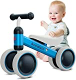 Baby Balance Bikes 10-24 Month Children Walker | Toys for 1 Year Old Boys Girls | No Pedal Infant 4 Wheels Toddler…