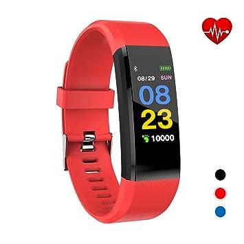 Xnuoyo Montre Connectée, Bracelet Connecté Écran Couleur Podometre Fitness Tracker dActivité avec Cardiofréquencemètre