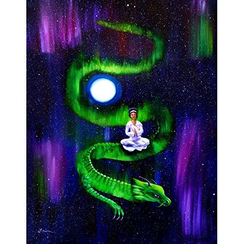 Quan Yin Dragon Boddhisattva Goddess Aurora Borealis Zen
