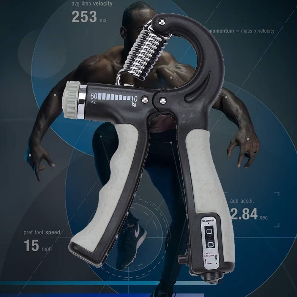 Adisputent Handtrainer Fingertrainer Fingertrainer Unterarm-Trainer Trainingsger/ät mit starker Feder f/ür mehr Griffkraft Fingerhantel einstellbar von 10-60 kg