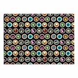 KESS InHouse SV1006ADM02 Stephanie Vaeth ''Toys, Games & Candy'' Multicolor Pattern Dog Place Mat, 24'' x 15''