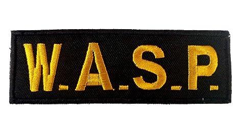 Parches - W.A.S.P logo - amarillo - 11.7x4.0cm - termoadhesivos bordados aplique para