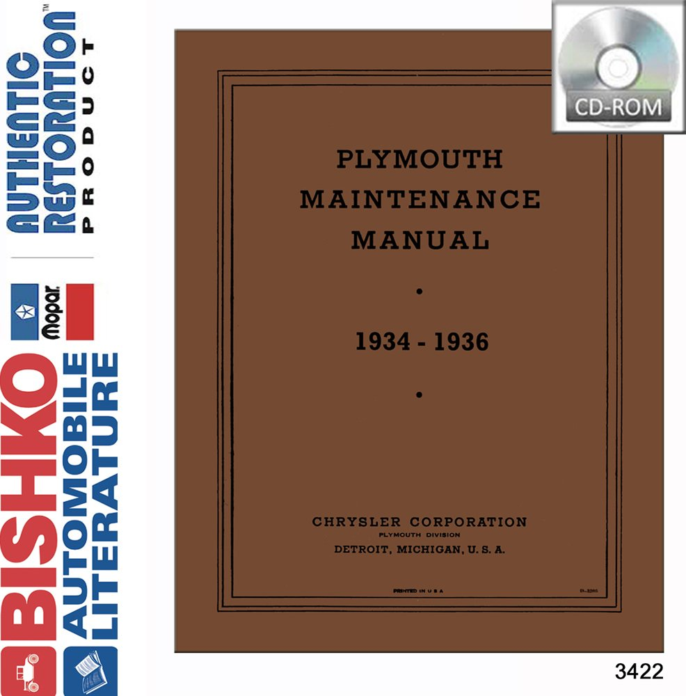 Amazon.com: 1934 1935 1936 Plymouth Shop Service Repair Manual CD Engine  Drivetrain: Automotive