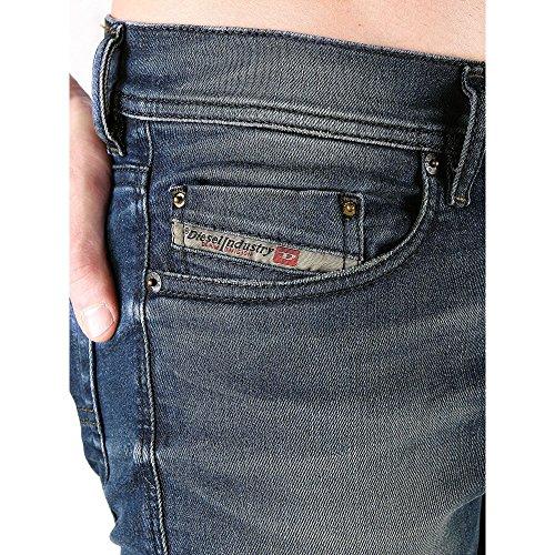 Diesel Slim Uomo Carrot Pantaloni stretch 0838d Blu Jeans Tepphar Prw6OqP