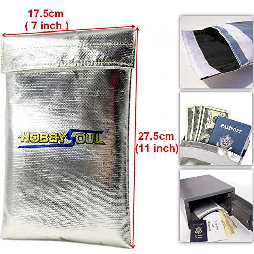 7''x11'' Fire proof pouch Money Cash Document Passports Photos and Valuables safe bag Fire Water Resistant material