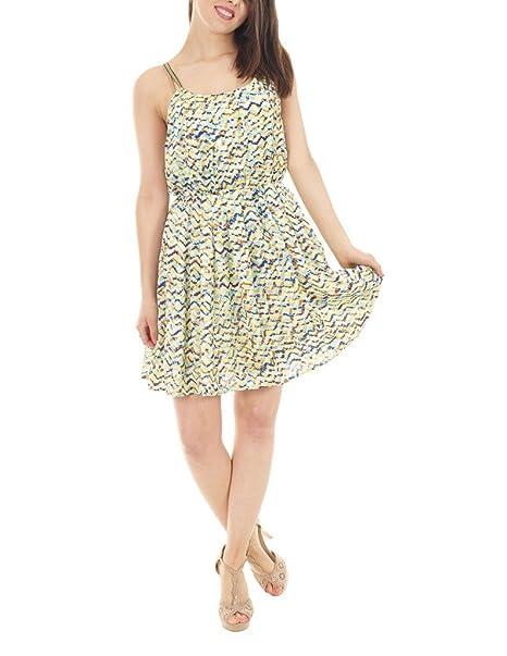 ... vestidos para mujer Summer Mini flotante ajustados sin mangas e  instrucciones para hacer vestidos falda traje de neopreno para mujer  Amazon .es  Ropa y ... 0bc38678e7b72