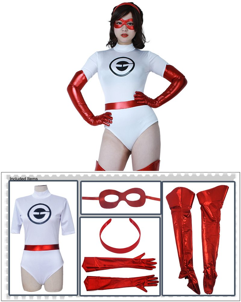 Cosplay.fm Women's Elasticity New Suit Girls Cosplay Halloween Costume White