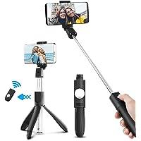 Palo Selfie Móvil Bluetooth Charlemain con Trípode para Autofoto Extensible de Control Remoto 3 en 1 Selfie Inalambrico Monopod Obturador Deportivo Rotación 360 Grados para iPhone Samsung Huawei Xiaomi