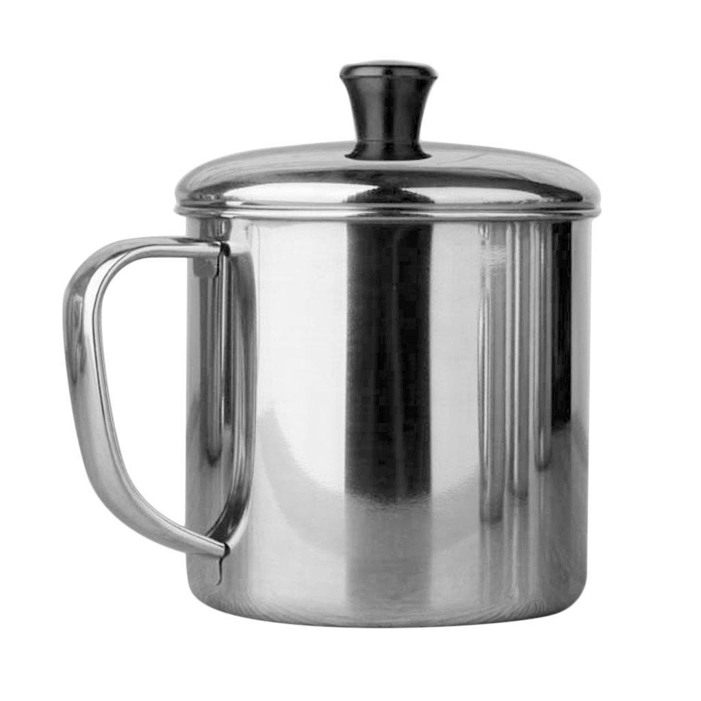 B Blesiya Stainless Steel Mug Outdoor Camping Coffee Tea Water Drinking Cup Kids Adult - 11cm (850ml)