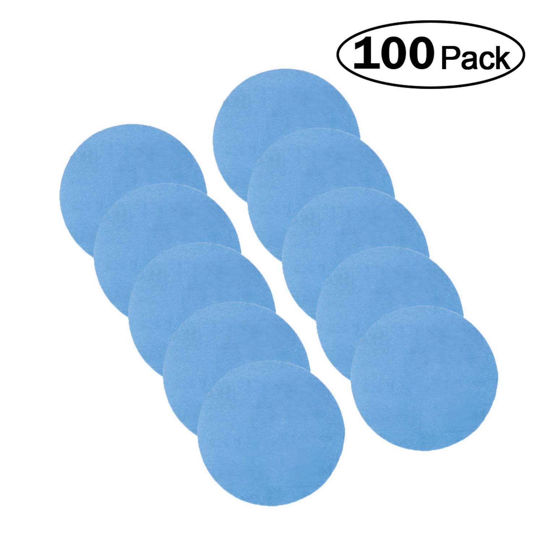 Hurricane BLUE, 3'' Hook and Loop Sanding Disc, Pack of 100, Choose from 60-600 Grit