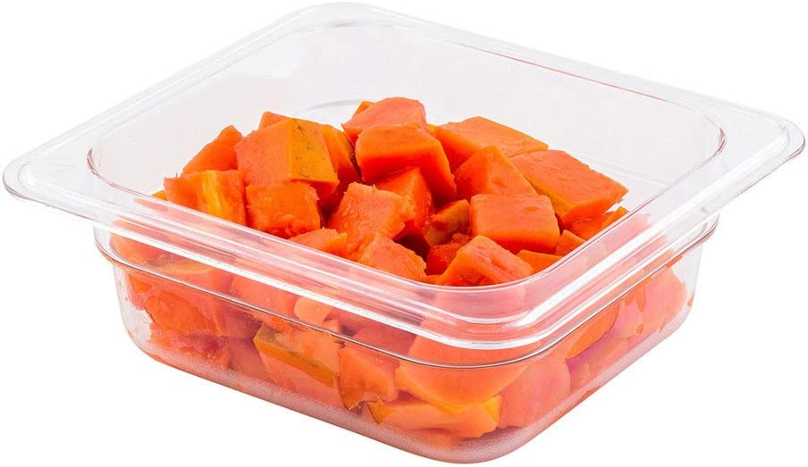 Cold Food Pan - Plastic Cold Food Storage Container - 1/6 Size - 2.5